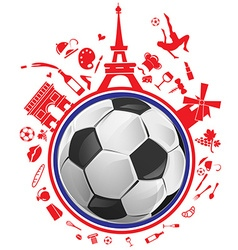 soccer ball with france symbol vector image vector image