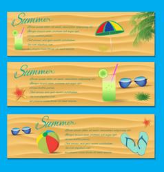 Summer Flyer Template vector image vector image