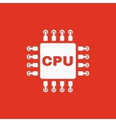 The cpu icon Microprocessor and processor symbol vector image