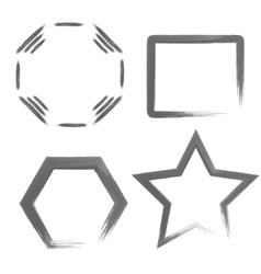 Watercolor geometric shapes vector