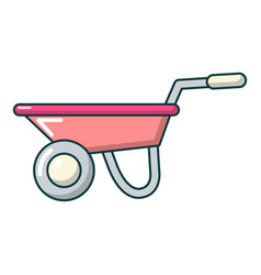 wheelbarrow icon cartoon style vector image