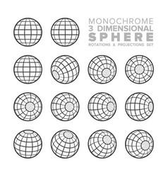 3d three dimensional monochrome sphere rotations vector