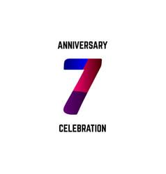 7 year anniversary celebration logo template vector