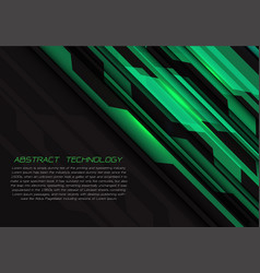 abstract green grey circuit power with dark vector image