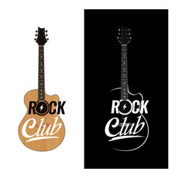 Acoustic guitar in realistic style for rock club vector