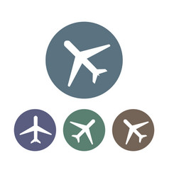 airplane icon plane sign set vector image