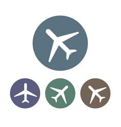 airplane icon plane sign set vector image