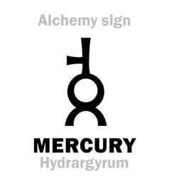 Alchemy mercury hydrargyrum quicksilver vector