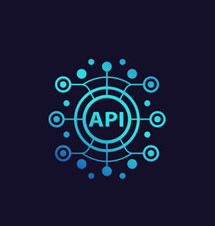 api application programming interface vector image