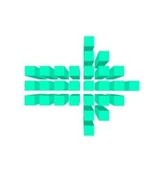 Arrow made squares cartoon vector