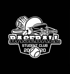 Baseball badge logo emblem template student club vector