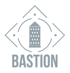 Bastion logo simple gray style vector