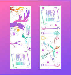 boho style guide set banners vector image