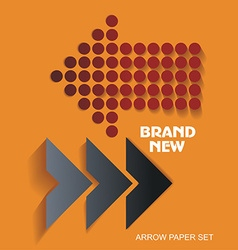 Brand New stickers and tags paper arrows vector
