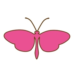 Butterfly pink silhouette icon image vector