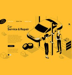 car services mobile app template vector image