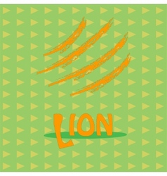 Card with the inscription lion for your business vector