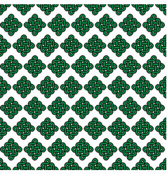 Celtic style endless knot symbol seamless pattern vector