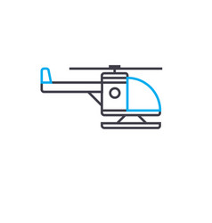 Chopper with skid thin line stroke icon vector