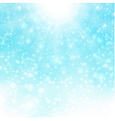 christmas background of bright snowflake colorful vector image