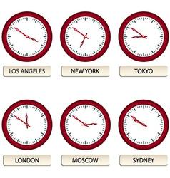 Clock faces - timezones vector