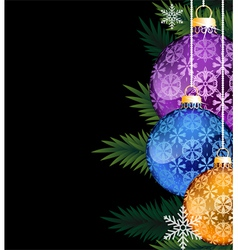 Colorful christmas decorations vector