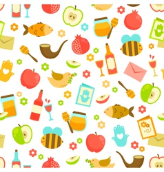 Colorful pattern for Rosh Hashanah vector