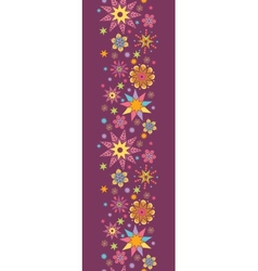 Colorful stars vertical seamless pattern vector image