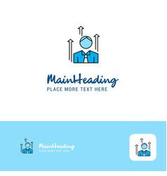 creative avatar logo design flat color logo place vector image