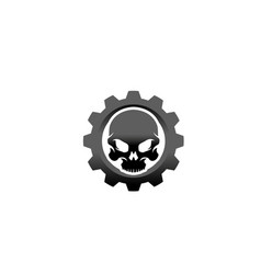 creative skull gear icon logo design vector image