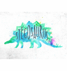 Dinosaur stegosaurus vivid vector