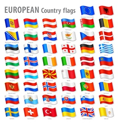 European flags Set vector