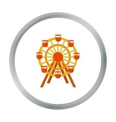Ferris wheel icon cartoon single building icon vector