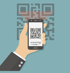 Flat concept for scanning qr vector