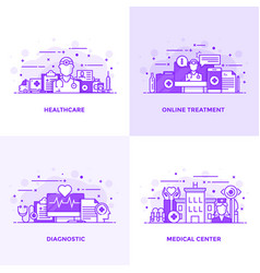 flat line purple designed concepts 9 vector image