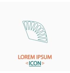Folding fan computer symbol vector image