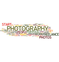 freelance photography how to begin your career vector image