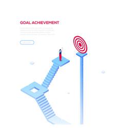 goal achievement - modern isometric web vector image