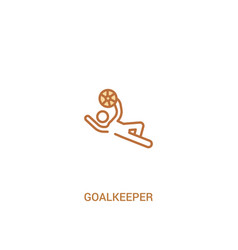 Goalkeeper concept 2 colored icon simple line vector