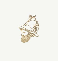 Greek god war logo vector