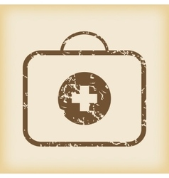 Grungy first-aid kit icon vector image