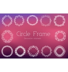 Hand drawn abstract background ornament frame vector image