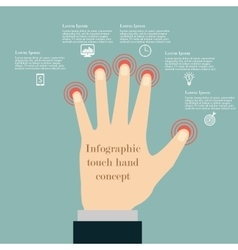 Hand touch infographic concept vector