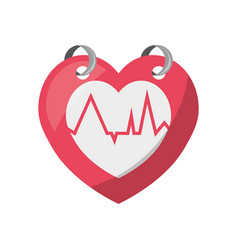 Heartbeat count red vector