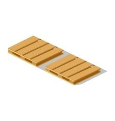 Isometric 3d Pallet Design Flat vector