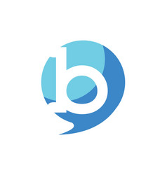 letter b balloon logo icon vector image