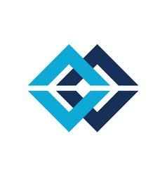 letter c cc modern logo vector image