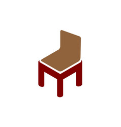 Letter m chair furniture vector