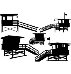 lifeguard tower vector image