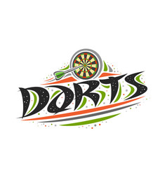 Logo for darts vector